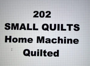 202-00.SMALL QUILTS
