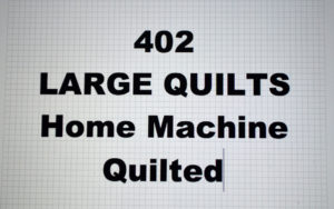 402-00.LARGE QUILTS