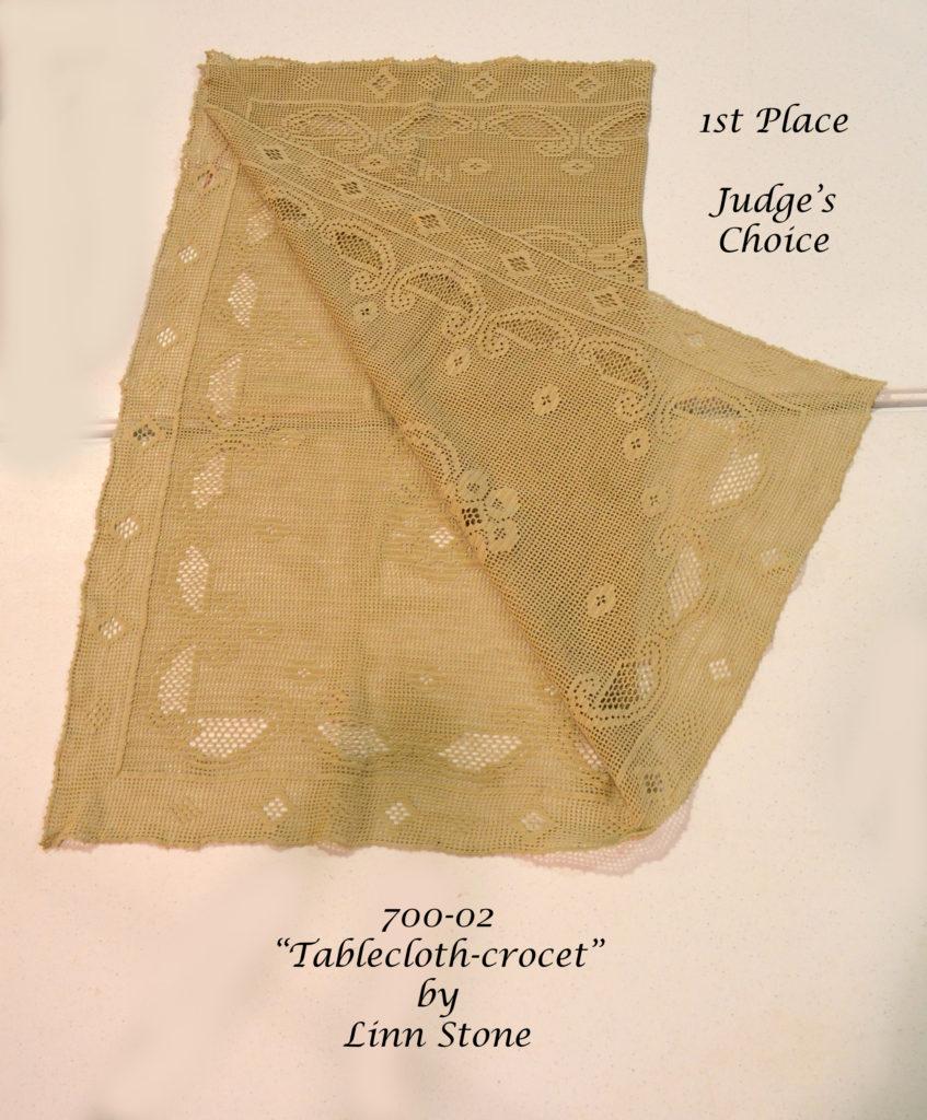 700-02 Tablecloth-crochet