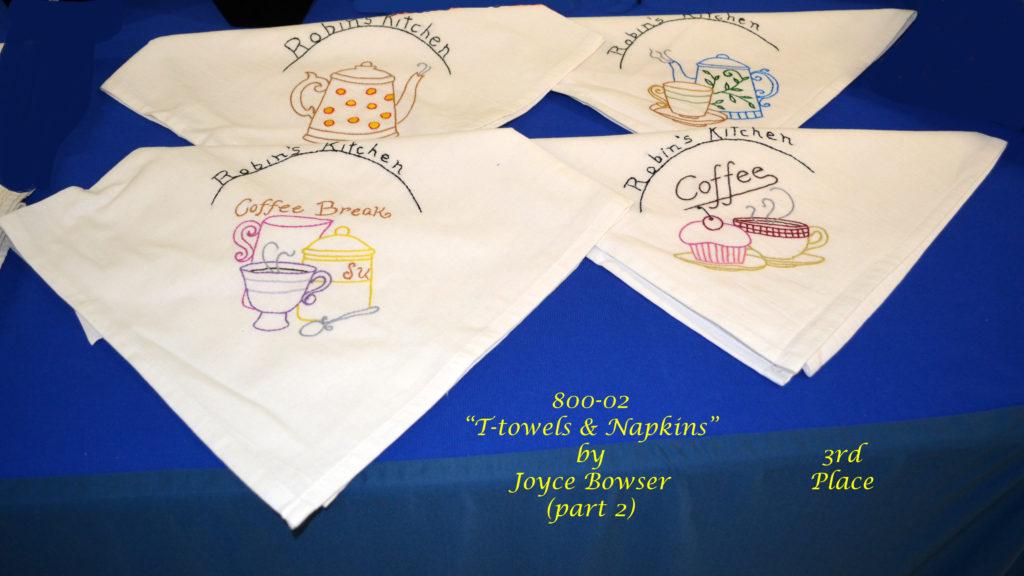 800-02(2) T-Towels & Napkins